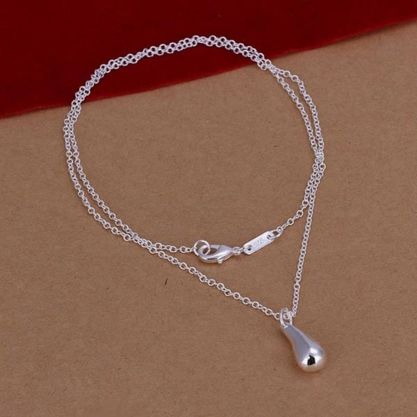 Silver Halsband med Droppe / Droppformat Hänge Silver