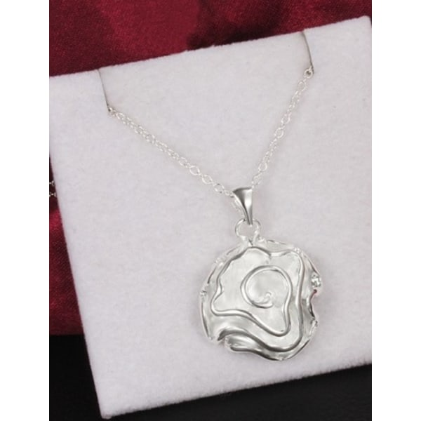 Silver Halsband med Ros / Blomma - Stilren & Lyxig Design  Silver