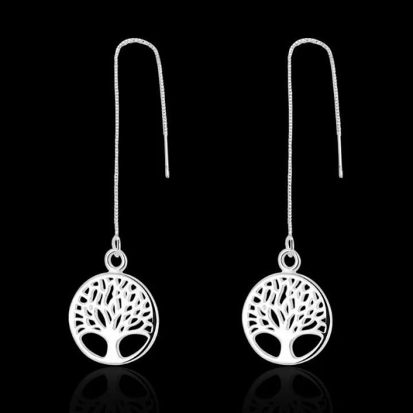 Silver Örhängen - Livets Träd - Symbol för Livet  Silver