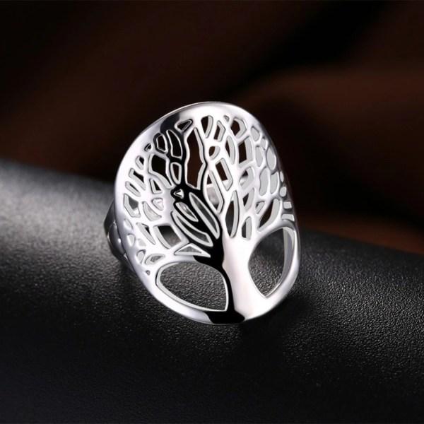 Silver Ring - Livets Träd - Symbol för Livet - Stl 16,5 Silver