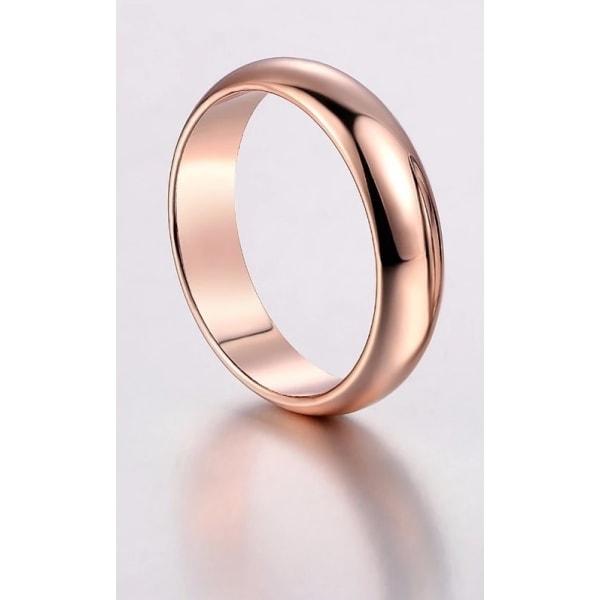 Slät Blank Rosé Guld Ring - Vacker & Stilren Design - Stl 19,8 Rosa guld