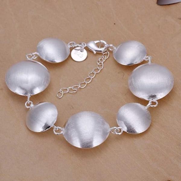 Unikt Silver Armband - Stilrena Cirklar / Runda Plattor Silver