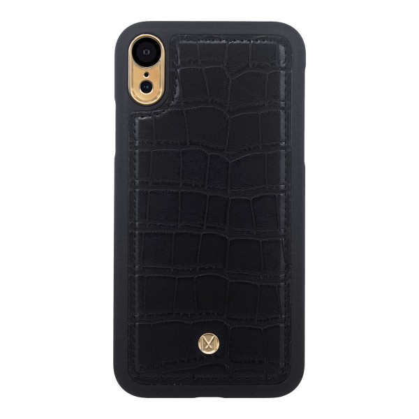 iPhone XR Marvêlle Magnetiskt Skal & Plånbok Svart Krokodil Svart