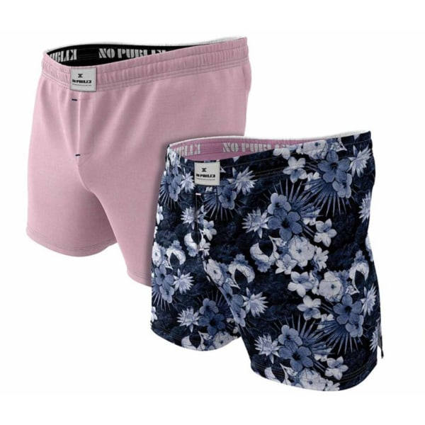 Kalsonger boxershorts 2-pack 100% Kammad Bomull NO Publik  Pink XL