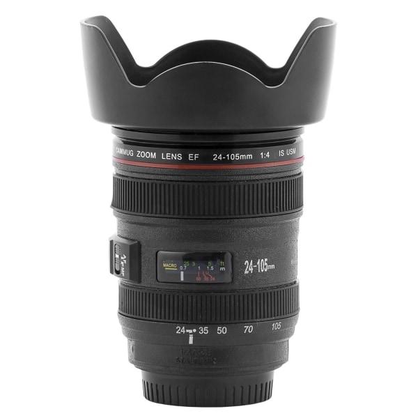 Multifunktionell Mugg - Kameraobjektiv Svart