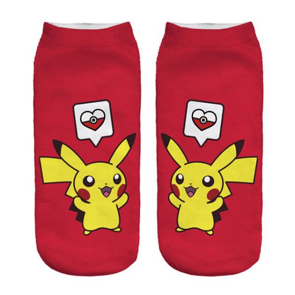 Pokémon Ankelstrumpor Nr. 7 Röd one size