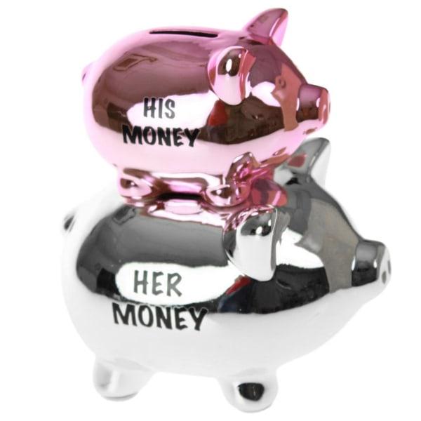 Sparegris - His Money Her Money Silver