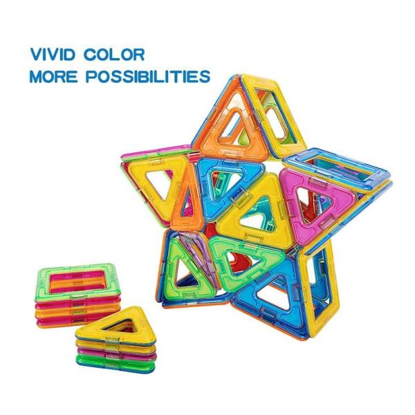 Magnetisk Byggesæt med Klistermærker, 60 dele Multicolor