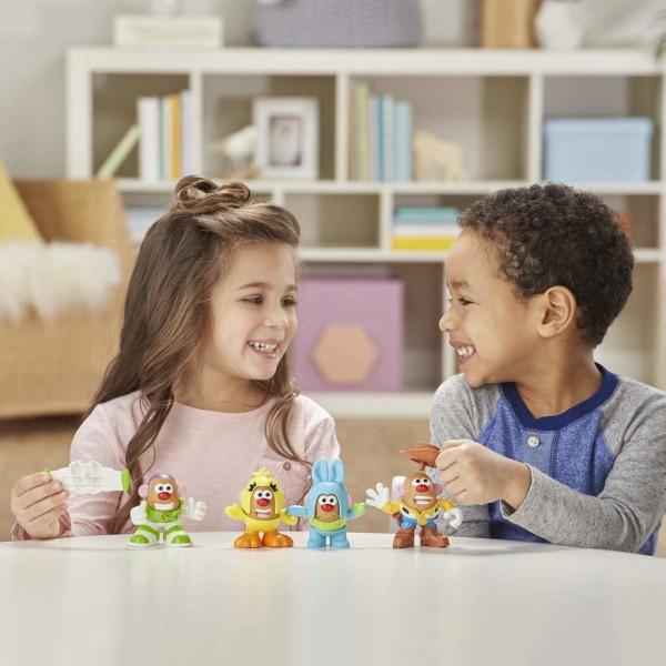 Toy Story 4, 4x Figurer - Mr. Potato Head Multicolor