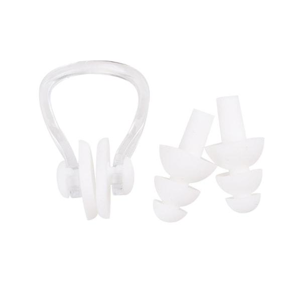 Simutrustning / tillbehör - Näsklämma och öronproppar Vit