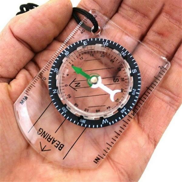Kompakt Kompass för Vandringen Transparent