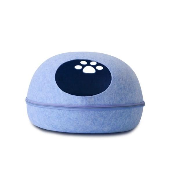 HooPet Katteseng med pude, Blå Blue