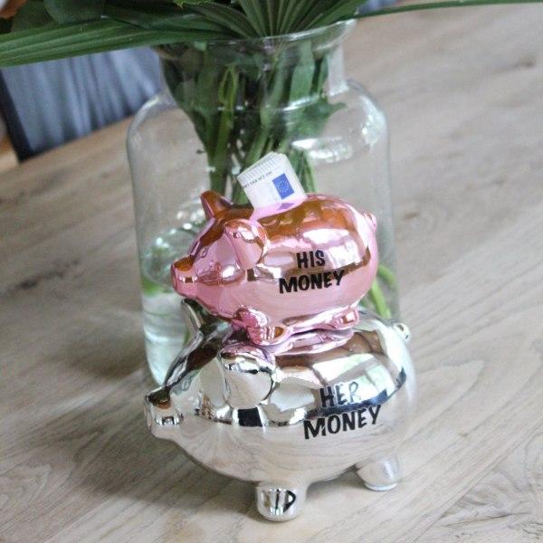 Säästöpossu - His Money Her Money Silver