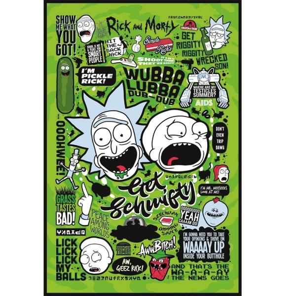 Rick and Morty, Maxi Juliste - Sitaatti Multicolor