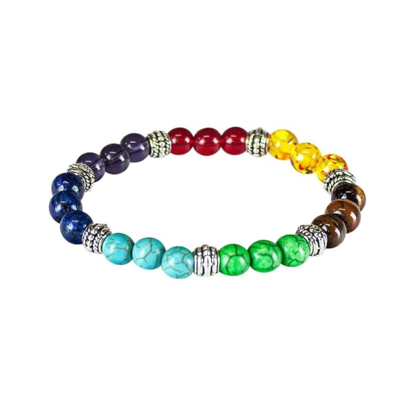 Chakraarmband med 7 olika färger multifärg