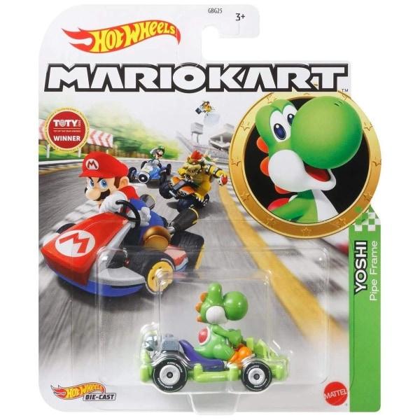 Hot Wheels Mario Kart - Yoshi Pipe Frame multifärg