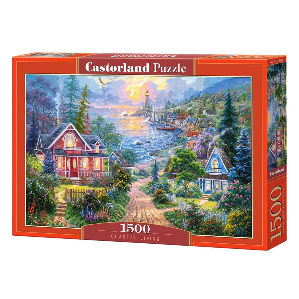 Castorland, Pussel - Coastal Living - 1500 Bitar multifärg