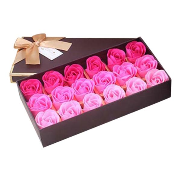 Kasse med roser Pink