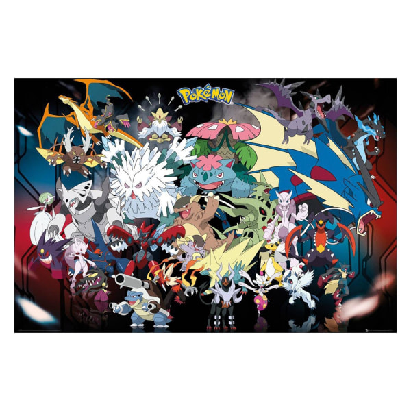 Pokémon, Maxi Poster - Mega multifärg