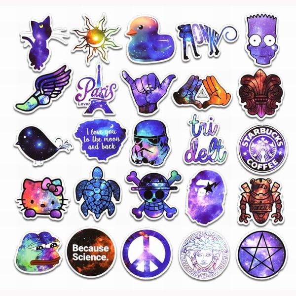 Klistermärken, 100 pack - Galax #2 multifärg