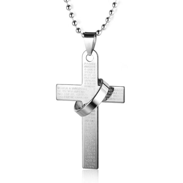 Kaulakoru - Risti Isä Meidän Rukous ja Sormus Silver one size