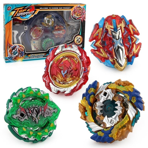 Top Superpower Top Plate battle set 4-pack Multicolor
