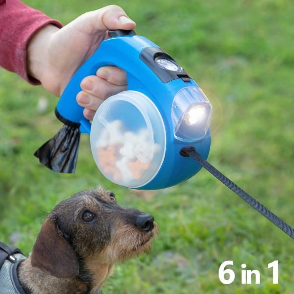 Multifunktionellt Hundkoppel Blå