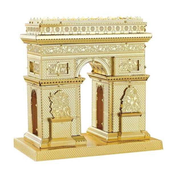 Triumfbuen, 3D Model Byggesæt i Metal - Guld Arch of Triumph