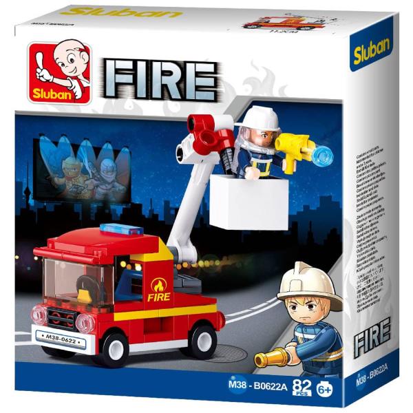 Sluban, Byggsats - Fire Small Platform multifärg