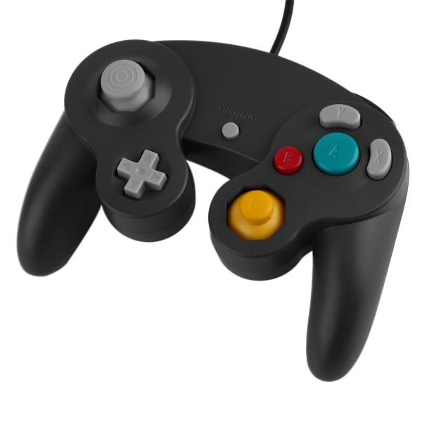 Wii & Gamecube Controller - Sort Black