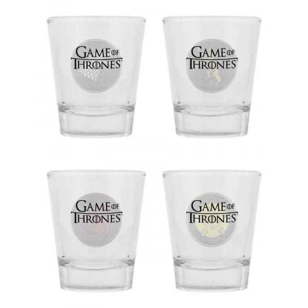 Game of Thrones, 4x Shotglas Multicolor