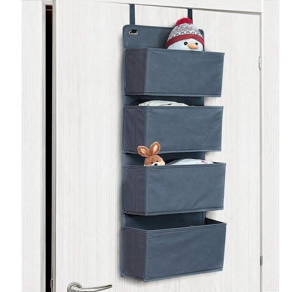 Tatkraft, Cozy - Hängande förvaring för dörren, fyra fack grå