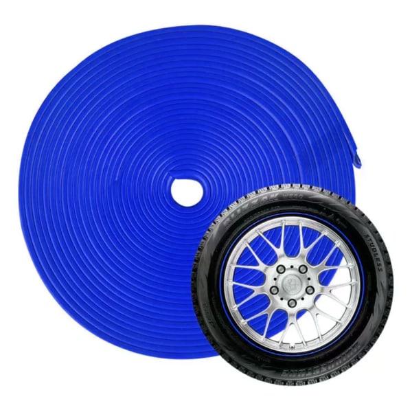 Fælgbeskytter af Gummi, 8 m - Blå Blue