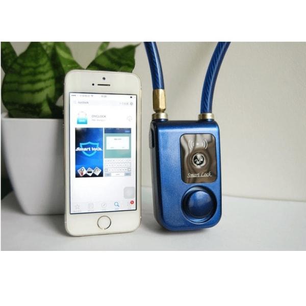 Smartlock - Ett lås utan nyckel med larm, Android/iPhone Blå