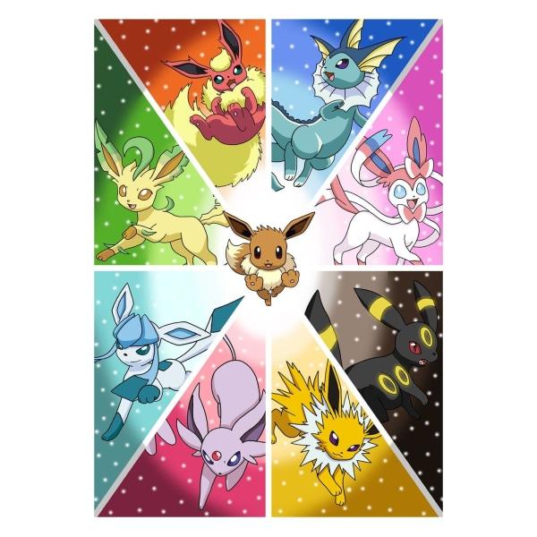 Pokémon, Maxi Poster - Eevee Evolution multifärg