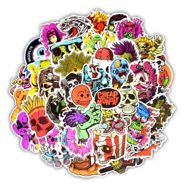 50x Klistermärken, Graffiti multifärg