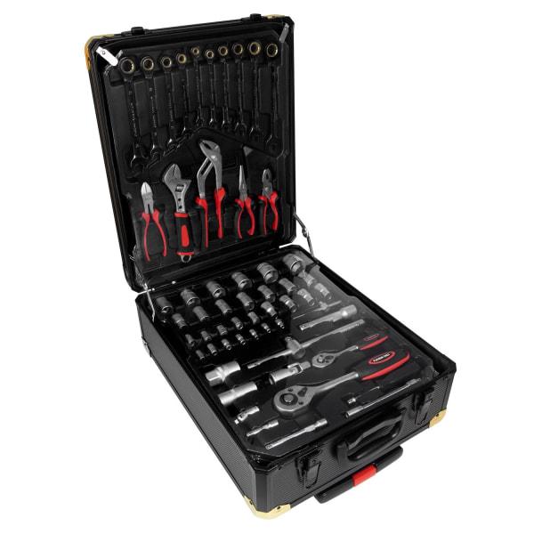 Værktøjssæt, Taske med Hjul - 408 Dele Multicolor