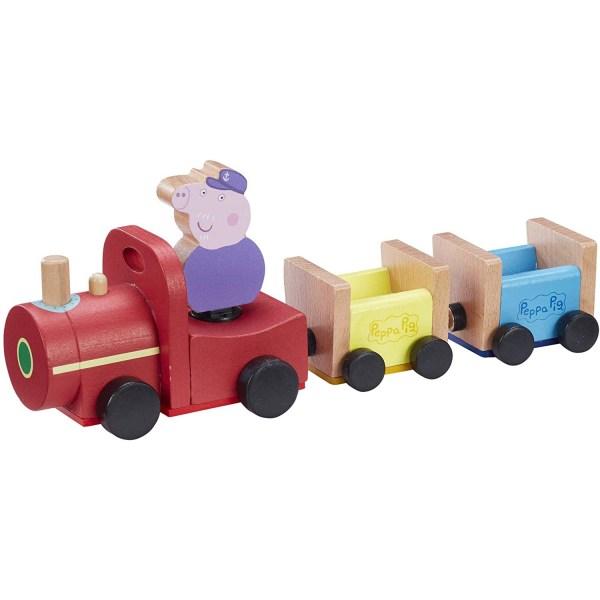 Peppa Pig, Träleksak - Grandpa Pigs Tåg multifärg