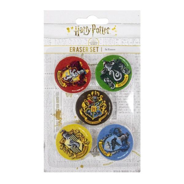 Harry Potter, 5x Viskelæder - Studenterhjem Multicolor