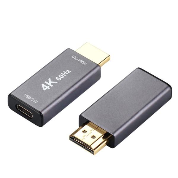 USB -C - HDMI -sovitin - 4K Grey