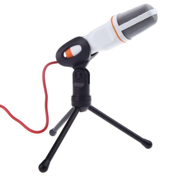Korkealaatuinen Studiomikrofoni - 3,5mm - Valkoinen Vit