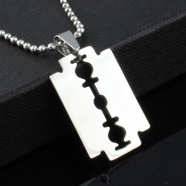 Halsband  - Razor Blade | Rakblad - Silver Edition | Unisex Silver