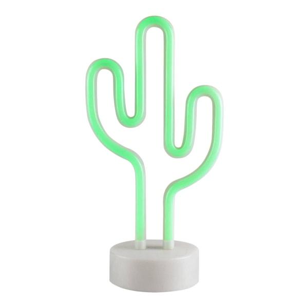 LED Neonlampa, Kaktus Vit