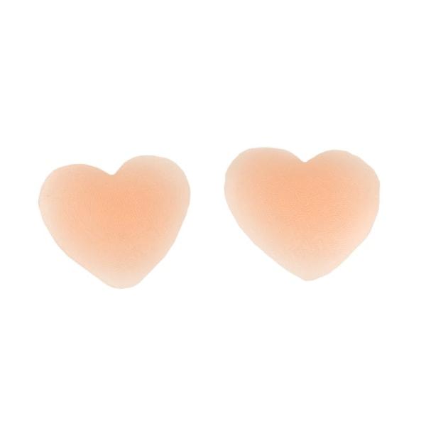 Hjärtformade nipple covers - Beige Beige one size