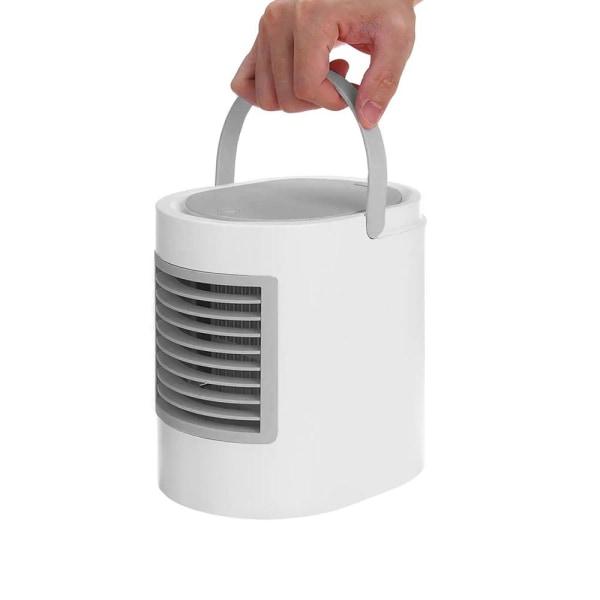 Bärbar Fläkt, Luftrenare och Luftkylare med Vattentank Vit