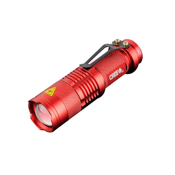 LED Ficklampa CREE Ultrafire - Röd Röd