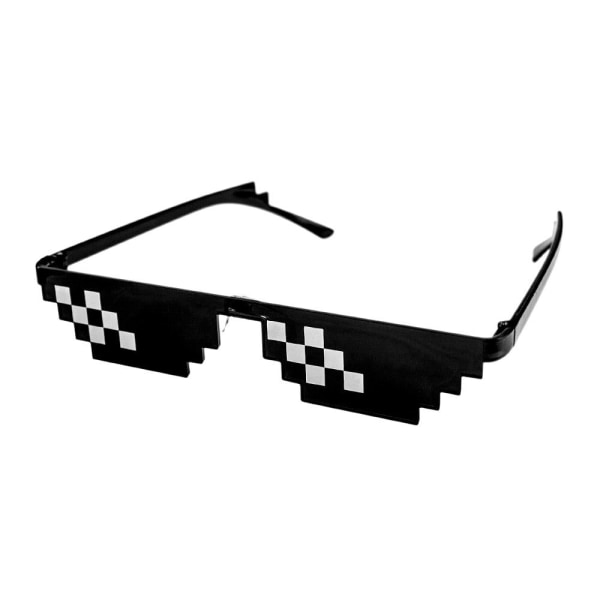 Pixelglasögon, 2 streck Svart one size