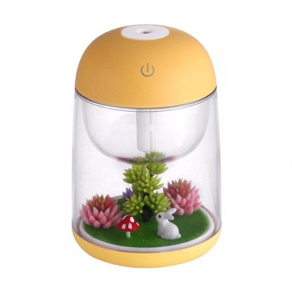 Luftfugter Miniaturelandskab - Gul Yellow