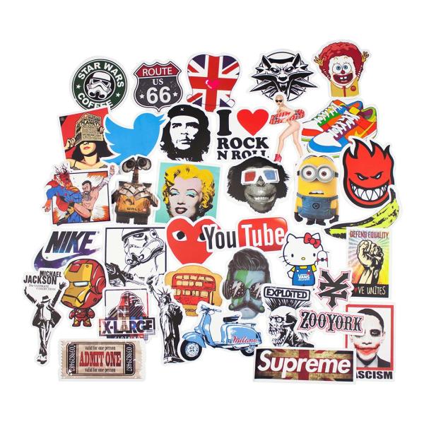 Megapack av Klistermärken och Dekaler multifärg