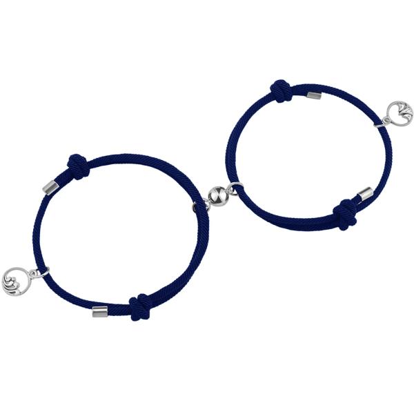 Pararmband med Magnet - Blå Blå one size